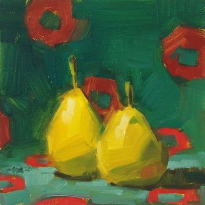 """Too Hip Pears"" original fine art by Carol Marine"