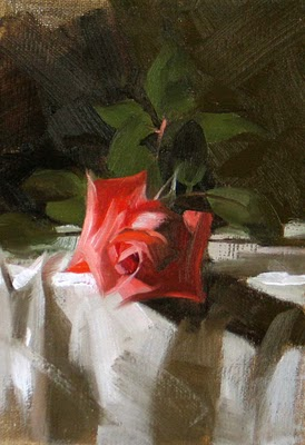 """Winter Rose --- Sold"" original fine art by Qiang Huang"