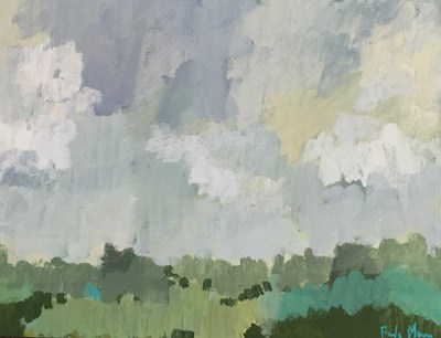 """Greys and Greens"" original fine art by Pamela Munger"