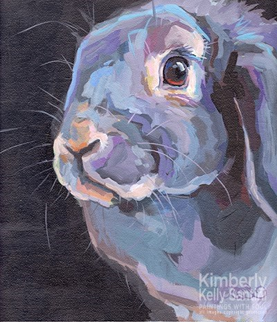 """Easter Bunny III"" original fine art by Kimberly Santini"