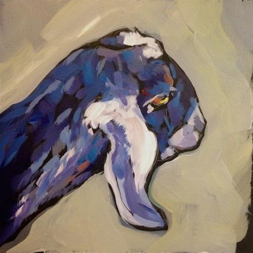 """The Goat Got It"" original fine art by Kat Corrigan"