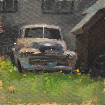 """Old Timer"" original fine art by Carol Marine"
