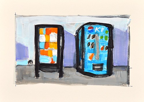 """Vending Machines"" original fine art by Kevin Inman"