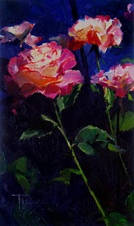 """A Rose Called Peace  flower oil painting, roses"" original fine art by Robin Weiss"