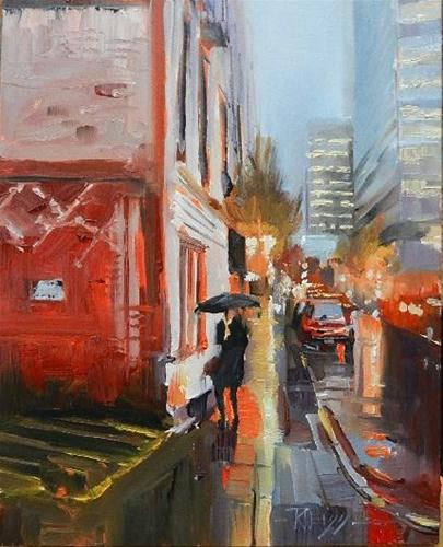 """Bluster  Portland city oil painting by Robin Weiss"" original fine art by Robin Weiss"