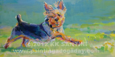 """Dandy"" original fine art by Kimberly Santini"