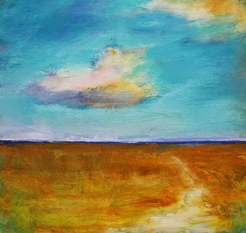 """Beach Path, Contemporary Beach and Ocean Paintings by Arizona Artist Amy Whitehouse"" original fine art by Amy Whitehouse"