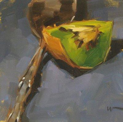 """Kiwi Reaper"" original fine art by Carol Marine"