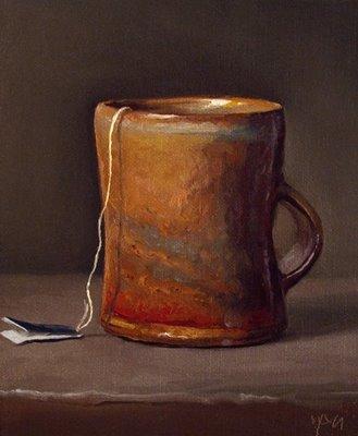 """Tea in a Wood-fired Cup"" original fine art by Abbey Ryan"