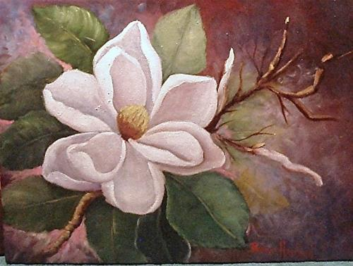 """Queen Magnolia   Happy 50th Anniversary"" original fine art by Barbara Haviland"
