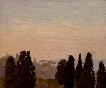 """View from the Boboli Gardens, Florence (Italy painting #4)"" original fine art by Abbey Ryan"