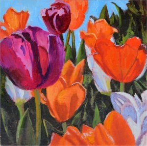 """Spring Has Sprung"" original fine art by Robert Frankis"