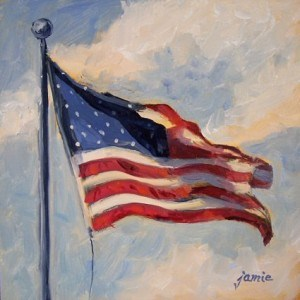 """VOTE!"" original fine art by Jamie Williams Grossman"