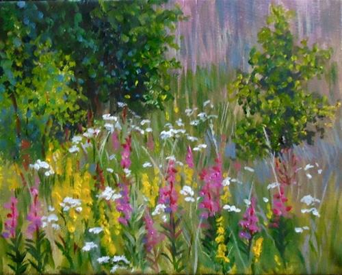 """Golden Rod, Yarrow and Fireweed, the Canol Road"" original fine art by Jackie Irvine"