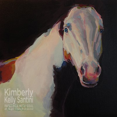 """Hello There (Luna II)"" original fine art by Kimberly Santini"