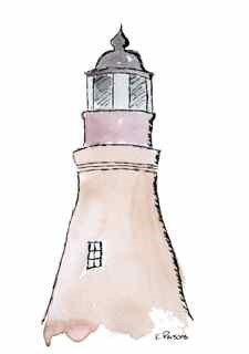 """Port Isabel Lighthouse"" original fine art by Kali Parsons"