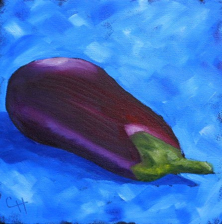 """Eggplant"" original fine art by Claire Henning"