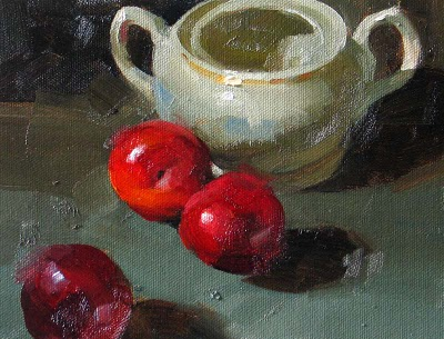 """""""Triple Sweet --- Click Here to Buy Now $119.99"""" original fine art by Qiang Huang"""