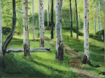 """Off the Path"" original fine art by Jo Allebach"