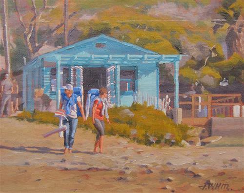 """Day At the Cove"" original fine art by John White"