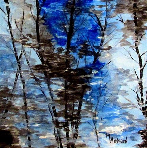 """Contemporary Impressionist Landscape  Art Painting Upon Reflection  by Mary Arneson Art-Works of W"" original fine art by Mary Arneson"