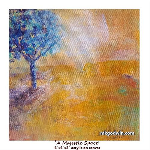 """A Majestic Space"" original fine art by Marie K Godwin"