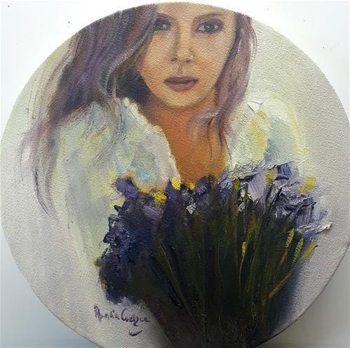 """Irises for her"" original fine art by Rentia Coetzee"