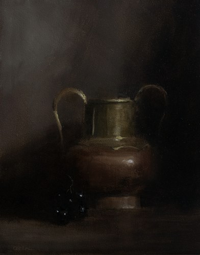"""Copper and Brass Vase"" original fine art by Neil Carroll"