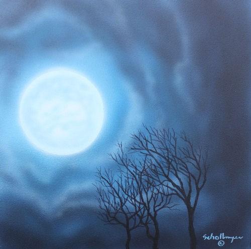 """Moon Dance"" original fine art by Fred Schollmeyer"