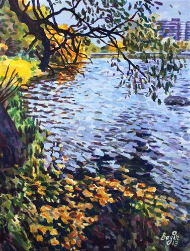 """The River Bend"" original fine art by Elbagir Osman"