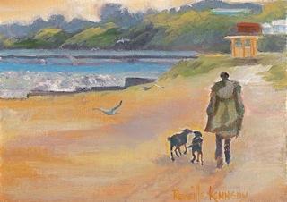 """Chilly Beach original oil"" original fine art by Reveille Kennedy"