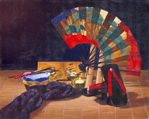 """Oriental Style"" original fine art by Cheryl Plautz"