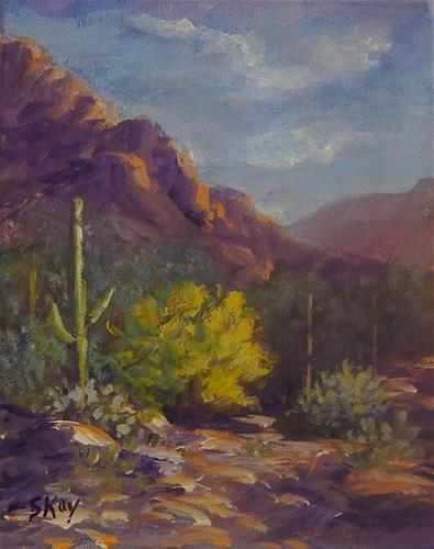 """Palo Verde Wash"" original fine art by Sharon Kay Baker"