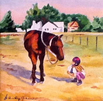 """Katie and Rocket"" original fine art by JoAnne Perez Robinson"