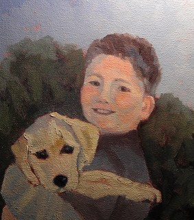 """Boy and His Puppy"" original fine art by Heidi Malott"