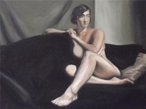"""Nude Reclining"" original fine art by Amy VanGaasbeck"