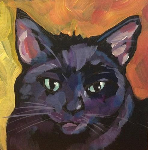 """""""March 29, Rescue Kitty Two"""" original fine art by Kat Corrigan"""