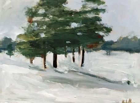 """December Trees"" original fine art by Pamela Munger"