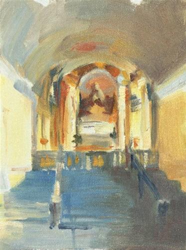 """Church Interior Torino"" original fine art by Patricia Canney"
