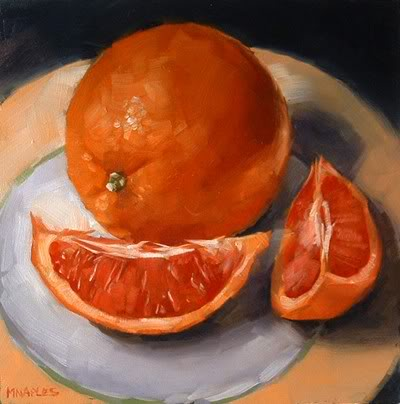 """Blood Orange"" original fine art by Michael Naples"
