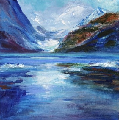 """4119 - Icefields"" original fine art by Sea Dean"