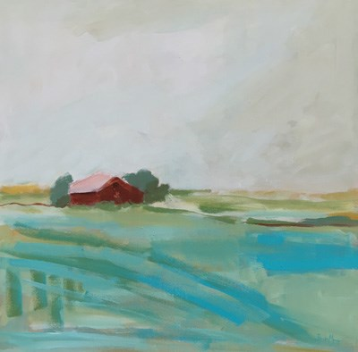 """Red Barn"" original fine art by Pamela Munger"