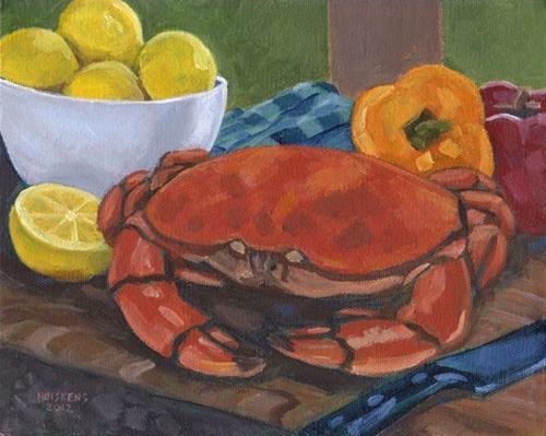 """""""Peekytoe Crab"""" original fine art by Randal Huiskens"""