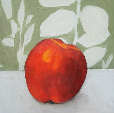 """Peach and Shower Curtain"" original fine art by Michael William"