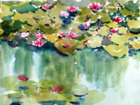 """Waterlily"" original fine art by Lisa Fu"