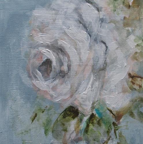 """Daily painting #736 Still white"" original fine art by Heidi Shedlock"