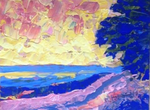 """Country   Road"" original fine art by Marie O' Higgins"