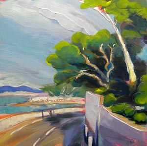 """Cote d'Azur 1"" original fine art by Pam Van Londen"