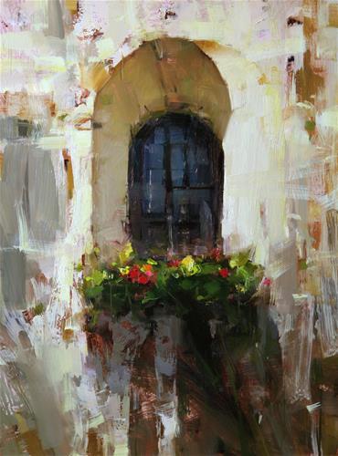 """Backyard Window"" original fine art by Tibor Nagy"