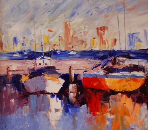"""Long Beach"" original fine art by Deborah Harold"